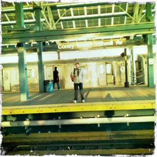Matt at Coney Island Subway