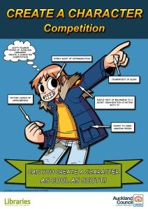 Auckland Libraries Create a Character Competition featuring Scott Pilgrim