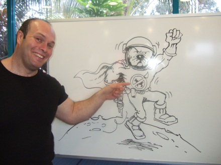 Bruce Potter's Create A Character Talk at Pakuranga Library