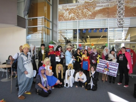 Cosplay at Onehunga Library, Auckland