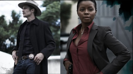 Timothy Olyphant and Erica Tazel star in TV's Justified
