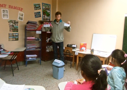 Matt teaching elementary school in Peru
