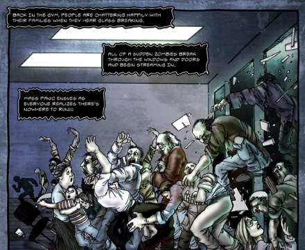 Panel from Zombie Pandemic comic, CDC