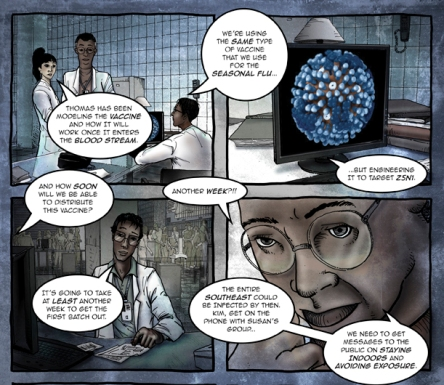 Excerpt from Zombie Pandemic comic, CDC
