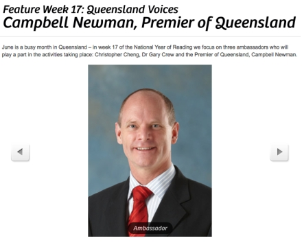 Campbell Newman - National Year of Reading Ambassador