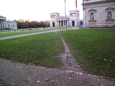 Desire line in Brooklyn