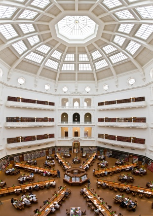 La Trobe Reading Room, by Wikipedia user Diliff. Used under a CC BY 2.5 licence.