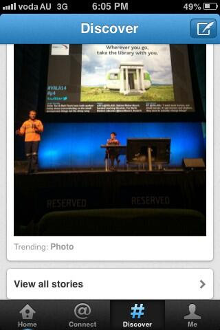 Matt speaking at VALA, trending on Twitter