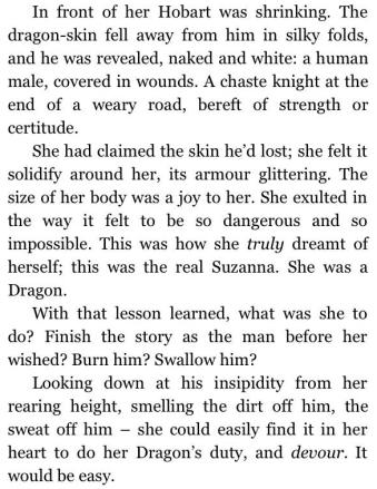Suzanna becomes the Dragon in WEAVEWORLD