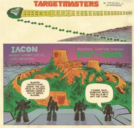 Art from Tom Scioli and John Barber's TRANSFORMERS VS GI JOE