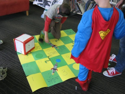 Superhero Boardgame at Wellington City Libraries