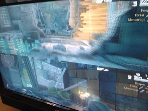 All a-blur - dashing around madly on CALL OF DUTY