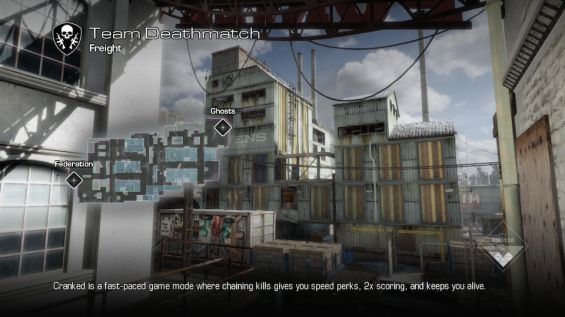 Freight map from Call of Duty: Ghosts