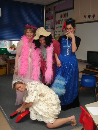Team Waitangi, a group of West London teachers, dress up as the cast of Cinderella