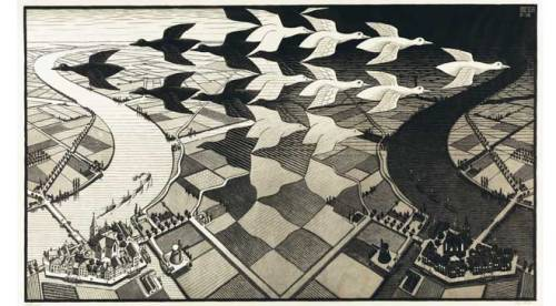 M.C. Escher, Day and Night - 1938