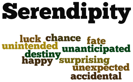A Wordle of key terms related to Serendipity