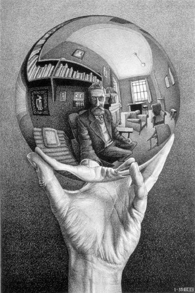 M.C. Escher, Hand with Reflecting Sphere