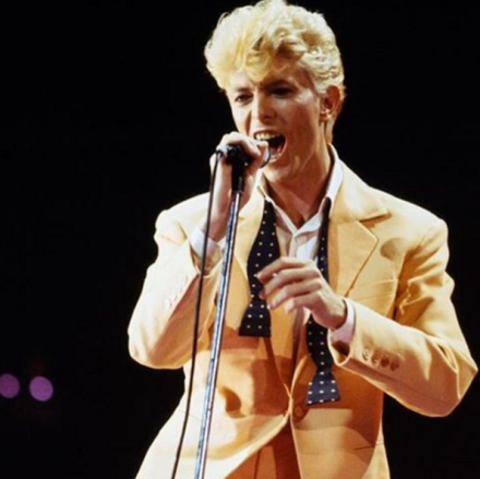 David Bowie performing in the 1980s
