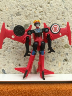 The Transformer Windblade watches over the State Library