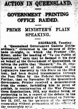 Sydney Morning Herald, 28 Nov 1917