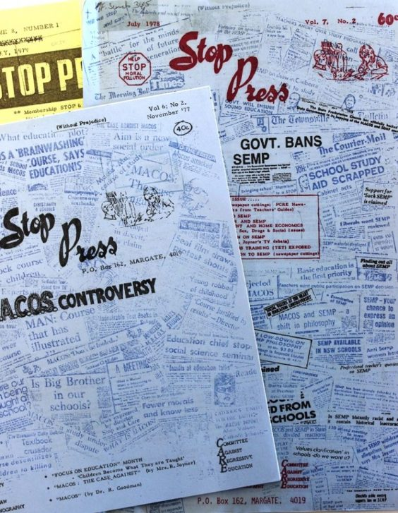 Materials from Rona Joyner's STOP campaign - via State Library of Queensland