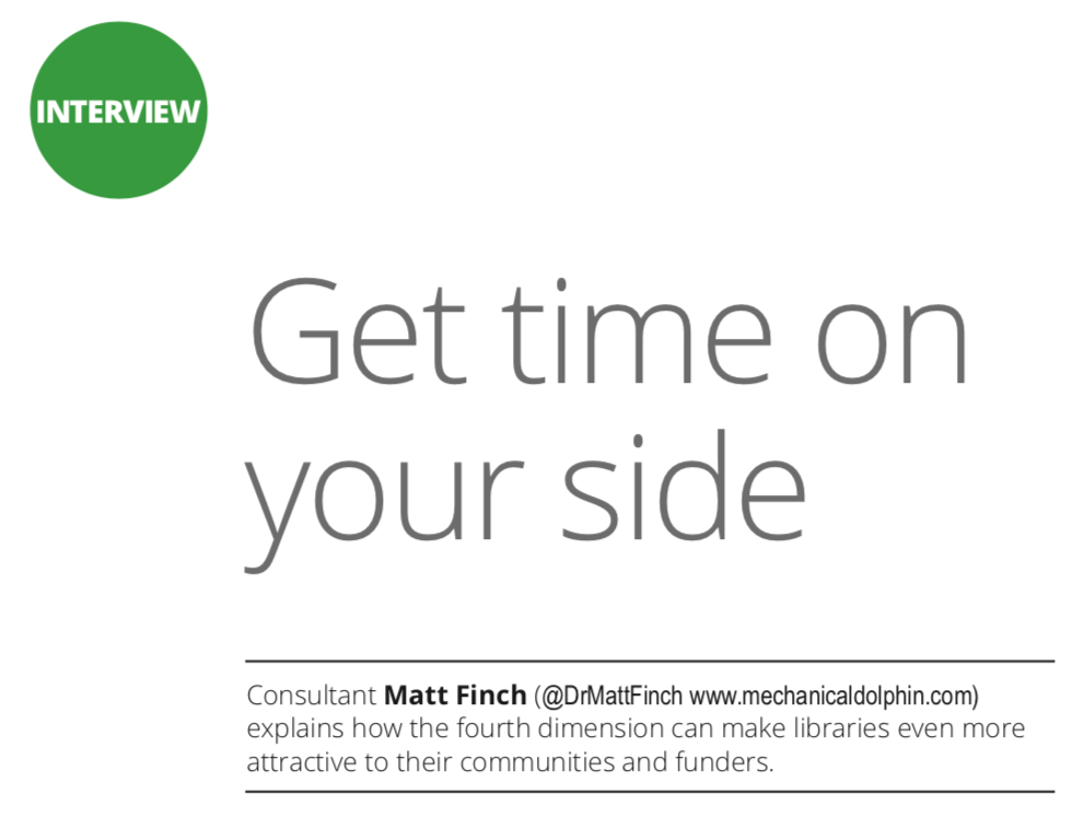 "Image of title from Matt Finch Information Professional interview ""Get Time On Your Side"""