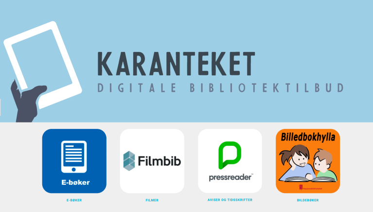 Karanteket web page - Norwegian digital library offer